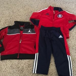 24 month lot- adidas tracksuit and Nike jacket